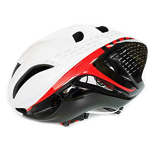 UPANBIKE Mountain Bike Riding Helmet One-Piece Ciclismo Ajustable Bicicleta Skateboard Head Protector Mediano Tamaño para Adultos Hombres Mujeres(Blanco Negro)