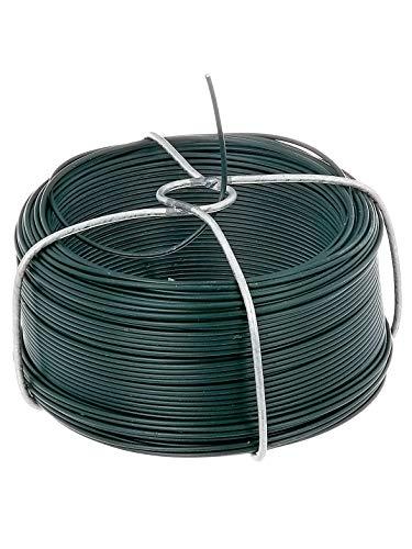 GAH-Alberts 530105 Drahtspule | verzinkt, grün kunststoffbeschichtet | Draht-Ø 1,2 mm | Länge 50 m