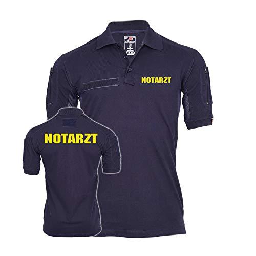 Copytec Tactical Poloshirt Notarzt Arzt Doktor Feuerwehr Einsatz Feuer Leben #29018, Größe:L, Farbe:Dunkelblau