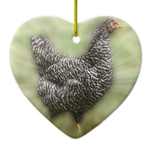 Lplpol Starburst Huhn Junges Barred Plymouth Rock Hen Keramik Ornament für Urlaub Jahrestag Home Dekoration
