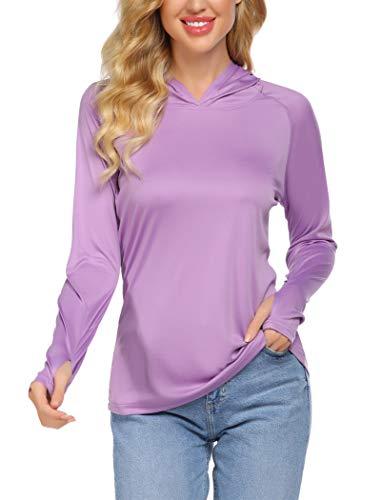 Balancora UV Shirt Damen UPF 50+ UV Sonnenschutz Shirts Running Fitness T-Shirt Sportbekleidung Langarm Oberteile Top