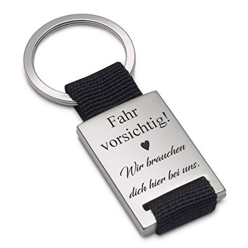 Lieblingsmensch Schlüsselanhänger Modell: Fahr vorsichtig, wir brauchen Dich Hier bei Uns - Textil