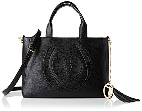 Trussardi Jeans Shopping, FAITH CAMERA CASE TUMBLED ECOL Donna, Black, NR