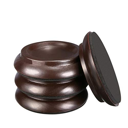 Piano Caster Cups,Piano Floor Wood Protector,Piano Caster Pads Non-Slip & Anti-Noise Foot for Piano,4 Cups
