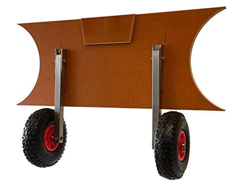 Starträder für Boot Schlauchboot Floß klappbar Außenbordmotor Räder für aufblasbares Schlauchboot Edelstahl (I-Form)