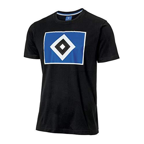 Hamburger SV HSV T-Shirt Raute schwarz Gr. 3XL