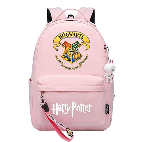 MMZ Mochila de Harry Potter para niña, bolsa de libros de Hogwarts con impresión 3d Mochila de gran capacidad (#4)