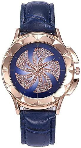 JZDH Reloj de Pulsera, Reloj de Mujer de Moda Modelo de Viento de Moda. Reloj de cinturón Impreso para Mujer. Dial Redondo Grande de 35 mm