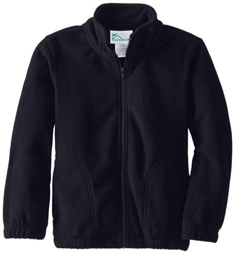 CLASSROOM Youth Unisex Polar Fleece Jacket, Dark Navy, Medium