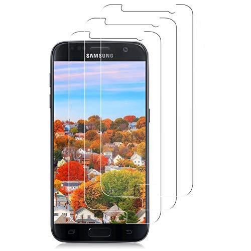 CUKENG Panzerglas [3er Pack] Panzerglasfolie für Samsung Galaxy S7,Displayschutzfolie 2.5D Double Defense Series,Kratzfest, Anti-Fingerprint,Blasenfrei,Galaxy S7 Schutzfolie