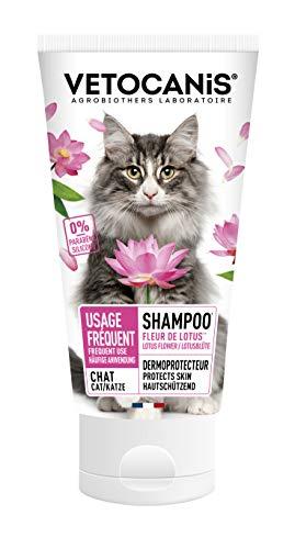 VETOCANIS Shampoing Usage régulier pour Chat, Poil doux et brillant, 0% Parabène 0% Silicone,...
