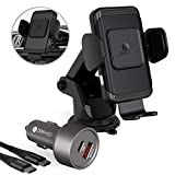 ZeeHoo Wireless Car Charger with QC 3.0 Adapter,10W Qi Fast Charging Auto-Clamping Car Mount,Windshield Dash Air Vent Phone Holder Compatible iPhone 11/11 Pro/11 Pro Max/Xs MAX/XS/XR/X/8+,Samsung S10