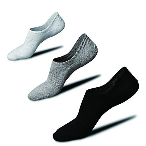 靴下 メンズ くるぶしソックス くるぶし靴下 脱げない 綿 抗菌防臭 通気吸汗 スニーカーソックス3足セット 24-28�p(3足組) (ホワイト,ブラック,グレー)