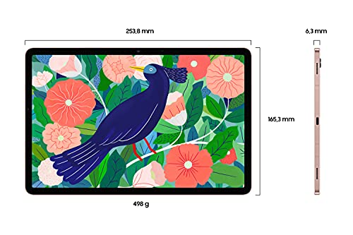 Samsung Galaxy Tab S7, Android Tablet mit Stift, WiFi, 3 Kameras, großer 8.000 mAh Akku, 11,0 Zoll LTPS Display, 128 GB/6 GB RAM, Tablet in bronze