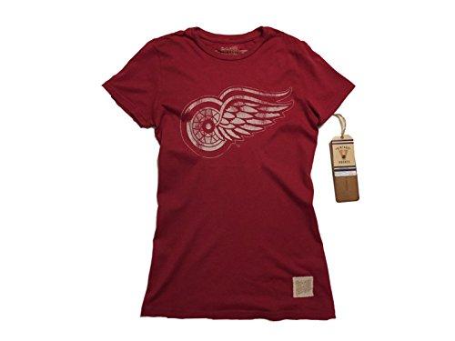 Detroit Red Wings Retro Brand Women Red Vintage Cotton Crew Neck T-Shirt (XS)