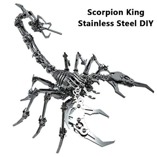 HXSD 3D Metall Antike Eudemons Scorpion King Insekt Edelstahl Assembled Abnehmbarer Modell Puzzle DIY Dekoration Geschenke