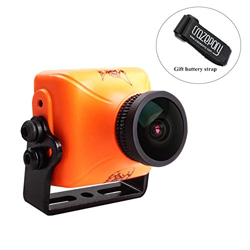 RunCam Eagle 2 Pro FPV Camera 800TVL 2.1mm FOV 170 DC 5-36V Integrated MIC Global WDR OSD Audio CMOS 16:9 4:3 Switchable for Racing Drone Multicopter Orange by Crazepony