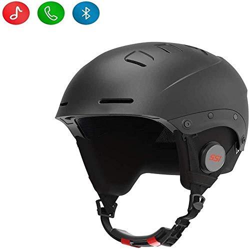 JMB YSYJJ Smart-Skihelm mit Bluetooth Ski & Snowboard Helm, IPX4 wasserdicht, Walkie-Talkie, Hören Persönlichkeit Musik Mode (Color : Schwarz, Size : M)