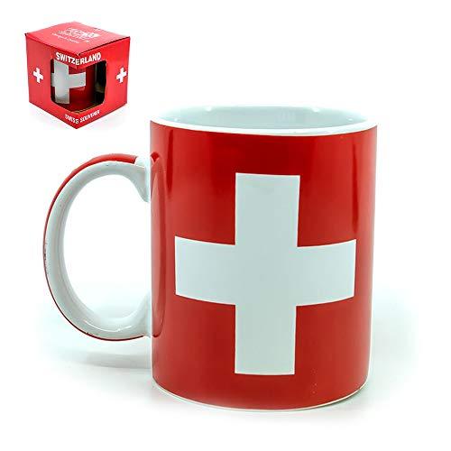 topspirit Koffiemok met Zwitsers Kruis en Zwitserland Lettering op Handvat Keramische Beker 250 ml