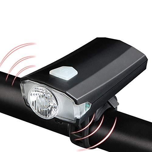 SWHJ 400 Lumen USB wasserdicht Fahrradbeleuchtung Wiederaufladbare LED Fahrrad Front-Fahrrad-Lampen-Taschenlampen-Lautsprecher Mountain Front Night Ride Suchscheinwerfer 1200mAh Lithium-Batterie
