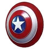 SPOTOR Escudo Capitan America Metal Apoyos Juego rol NiñO 47CM Arma Cosplay Navidad De Halloween Juguete SuperhéRoe 1: 1 Movie Edition Bar Creative Pared Colgante Captain America Shield
