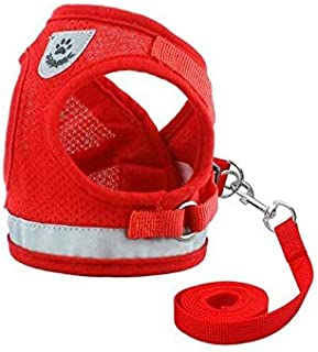 Mumoo Bear Dog and Cat Universal Harness with Leash Set, Escape Proof Cat Harnesses - Adjustable Reflective Soft Mesh Cord...