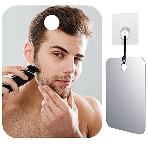 CozyCabin Anti-Fog Shower Mirror, Portable Fogless Shaving Mirror for Bathroom