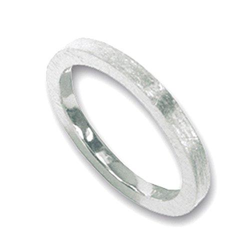 Silberring hochwertige Goldschmiedearbeit aus Deutschland (Sterling Silber 925) 2 mm breit - Vorsteckring - Damenring - Herrenring - Partnerring - Bandring - Beisteckring