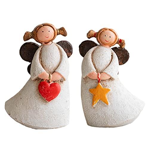 Nrkin Ángel de la guarda amuleto de la suerte, figura de ángel, decoración de Navidad, regalo para nacimiento, bautismo, comunión, confirmación, aniversario