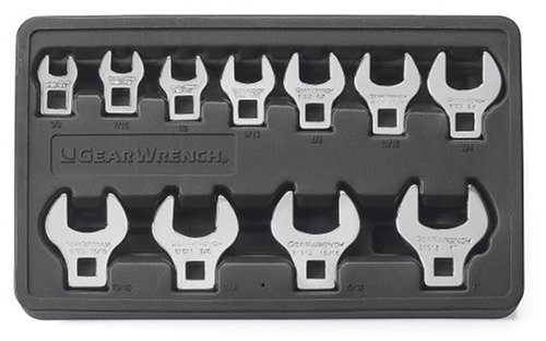 GEARWRENCH Ratcheting Crowfoot Metric Wrench Set