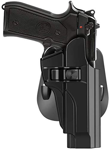 HQDA Beretta 92 92FS INOX M9 M922 Holster,Taurus PT92 OWB Holster Tactical Outside Waistband Paddle Holster Holder,Right-Handed