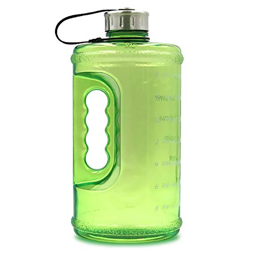 73 Unzen Wasserflasche Tragbarer Wasserkrug, Fitness Sport Tägliche Wasserflasche Mit Motivierendem Zeitmarker, Auslaufsichere Fitnessflasche Für Camping Im Freien,A