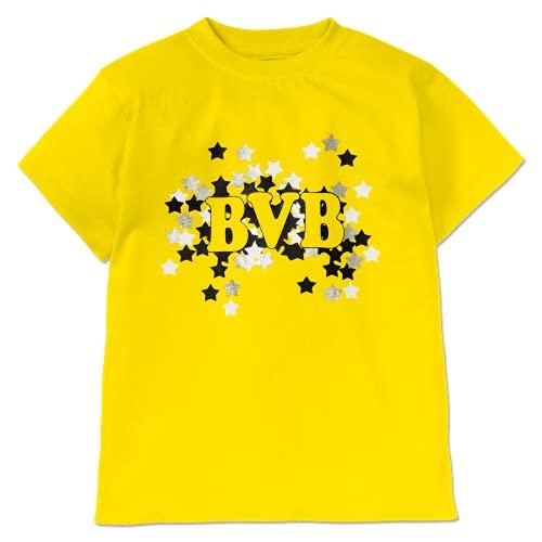 Borussia Dortmund Unisex Baby BVB Sternendruck Kleinkind T-Shirt-Satz, gelb, 86/92