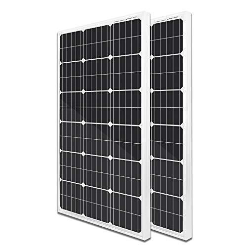 ECO-WORTHY 200 Watts 2pcs 100 Watt Mono Solar Panel 12 Volt Battery Charging for RV Boat