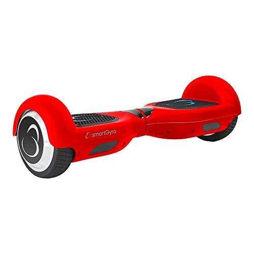 SMARTGYRO X2 Potente Patinete Eléctrico Hoverboard, Antipinchazos, Batería de Litio 4400 mAh, Velocidad Máxima 12 Km/h, Certificado UL, Unisex Niños, Rojo, 6.5 Pulgadas