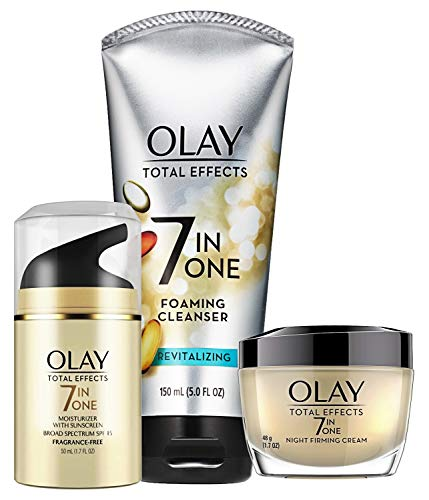 of olay anti aging moisturizers Face Wash by Olay Total Effects Day to Night Skincare Kit with Cleanser, SPF & Night Cream, Packaging May Vary
