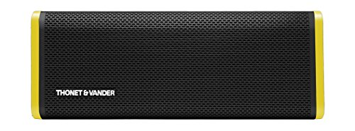 Thonet and Vander Frei Portable Bluetooth Speaker (Black) Wireless with Enhanced Bass (50 Peak Watts) Impact + Water Resistant/IPX-4 Shockproof - Rechargeable 8Hr Battery (German Engineered)