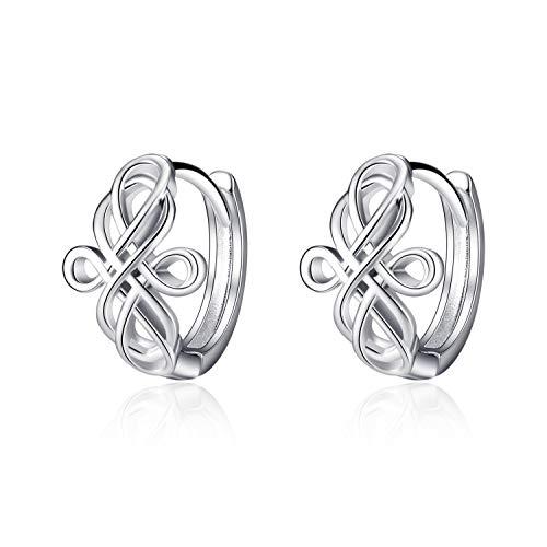 WINNICACA keltisch knoten Ohrringe Huggie Hoop Sterling Silber Schmuck Geschenke für Frauen Mädchen Muttertag