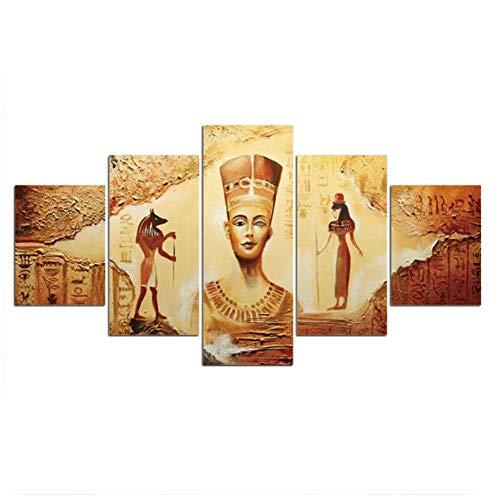 Cultura egipcia Cuadros modulares Decoración del hogar Arte de la pared Cartel de la lona Decoración Pintura HD Impreso Foto -30x40 30x60 30x80cm Sin marco