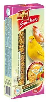 Vitapol Smakers Mélange de bâtonnets pour canarie/Miel/Fruits avec 3 bâtonnets
