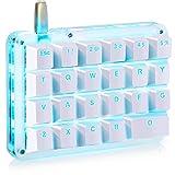 フルプログラム可能 メカニカルキーボード カスタマイズ可能 ゲーミングキーボード 23キー マクロキー 青色バックライト 片手小型キーボード ショットカットキー プログラマー向き DIYキーボード(青軸 ブルーバックライト)