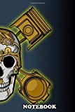Notebook: Combine Skull With Steampunk Design , Journal for Writing, College Ruled Size 6' x 9', 110 Pages