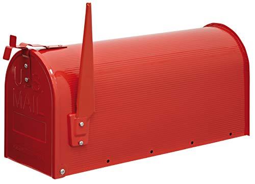 Arregui Mail D-USA/R Buzón Individual de Acero de Estilo Americano, Rojo, Tamaño L (revistas y sobres C4) - 22 x 48 x 17 cm