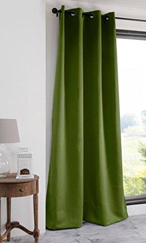 Lovely Casa Notte Tenda Oscurante, Poliestere, Oliva, 140x 280cm