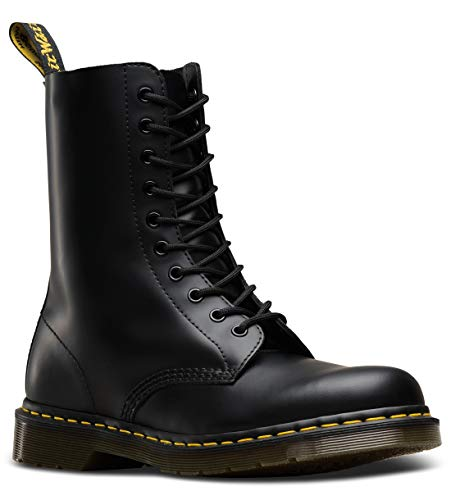Dr. Martens 1490, Stivali unisex adulto, Nero (Black Smooth) 39