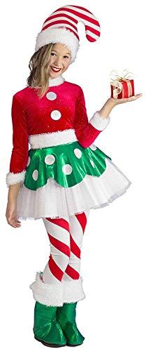 Princess Paradise Candy Cane Elf Princess Child's Costume, Medium
