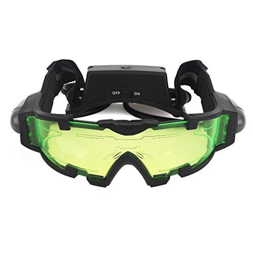 Zogin - Occhiali da visione notturna, con fasce elastiche regolabili, con luci rimovibili