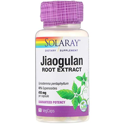 Solaray Jiaogulan Root Extract, 410 mg, 60 VegCaps
