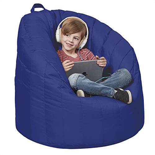 Cali Seashell Sack Bean Bag Chair, Dirt-Resistant Coated Oxford Fabric, Flexible Seating for Kids, Teens, Adults, Furniture for Bedrooms, Dorm...