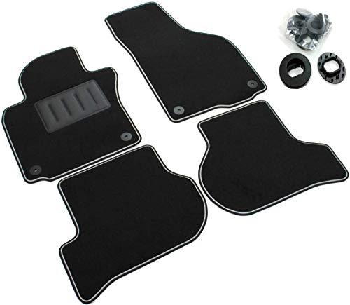 ilTappetoAuto by Fabbri3 - SPRINT04104 - Maßgeschneiderte Fußmatten für Auto aus Schwarzem Rutschfestem Teppich